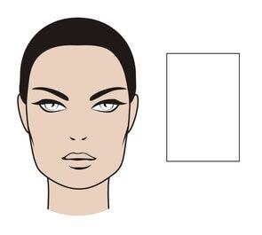 twarz prostokątna