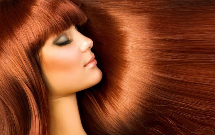 płukanka do włosów rudych